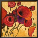 Poppies Wildly II Art by Shirley Novak