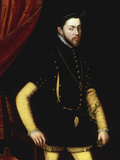 Portrait of King Philip II of Spain Giclee Print by Antonio Mor