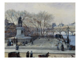 The Pont Neuf and the Statue of Henri IV, Paris, 1884 Art by Julien Renevier