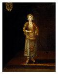 A Turkish Lady Holding a Pipe Kunstdrucke von Jean Baptiste Vanmour
