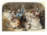Le Chahut au Bal de l'Opera, 1851 Giclée-Druck von Eugene Lami
