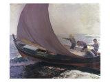 A Gust of Wind, 1904 Poster by Joachin Sorolla y Bastida