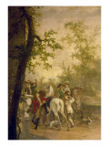 A Hunting Party Departing Giclee Print by Gerrit Malleyn