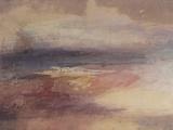 J. M. W. Turner - Coastal View at Sunset - Giclee Baskı