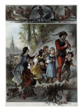 The Pied Piper of Hamelin Leading the Children Away Giclee Print by Carl Offterdinger
