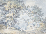 Rustics on a Country Track at Hindhead, Surrey, 1792 Affiches par William Turner