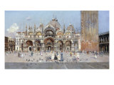 On the Piazza San Marco, Venice Poster by Antonio Reyna Manescau