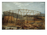 Construction of Seaham Harbour, 1831 Giclee Print by Robert Mackreth