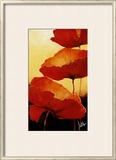 Three Red Poppies II Prints by Jettie Rosenboom
