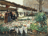 Marche aux Fleurs a La Madeleine Prints by Theodor von Hoermann