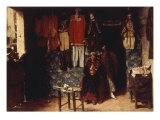 A Mask Shop in Venice, 1879 Poster by C. Van Haanen