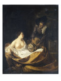 A Man Offering Money to a Woman Reproduction procédé giclée par Adriaan van der Werff