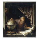 An Astronomer in his Study, 1672 Giclee Print by Jan Adriensz van Staveren