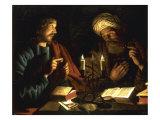 Christ and Nicodemus Giclee Print by Crijn Hendricksz Volmarijn