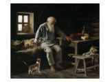 Old Man and his Cat, 1887 Giclee Print by Ivan Andreivich Pelevin