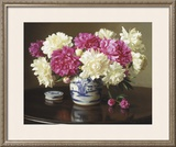 Peonies in Ginger Jar Prints by Evan Wilson