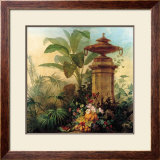 Flowers and Tropical Plants Print by Jean Capeinick