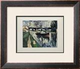 La Seine a Poissy, 1908 Prints by Maurice de Vlaminck