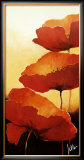 Three Red Poppies II Poster by Jettie Rosenboom