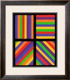 Color Bands in Four Directions, c.1999 Framed Giclee Print by Sol Lewitt