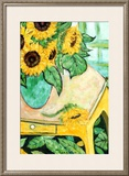 Sunflowers on Table Posters by  Loughlin