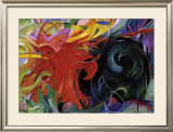 Fighting Forms Posters by Franz Marc