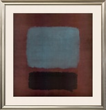 No. 37 / No. 19 (Slate Blue and Brown on Plum), 1958 Posters by Mark Rothko