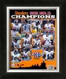 Super Bowl XL - 2005 Steelers Championship Team Composite Framed Photographic Print