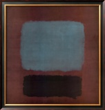 No. 37 / No. 19 (Slate Blue and Brown on Plum), 1958 Art by Mark Rothko