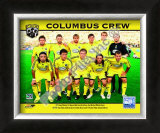 2008 Columbus Crew Team Framed Photographic Print