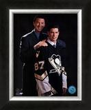 2005 - Sidney Crosby / Mario Lemieux Draft Day Framed Photographic Print