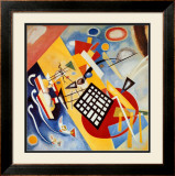 Black Frame Posters by Wassily Kandinsky