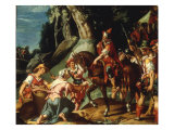 The Meeting of David and Abigail, 1600 Posters by Joachim Utewael