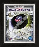 2008 Columbus Blue Jacket Logo Framed Photographic Print