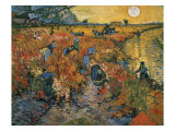 The Red Vineyards at Arles, 1888 Giclee Print by Vincent van Gogh