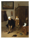 Interior with a Man Dressing, behind him a Boy in Attendance, 1661 Giclee Print by Gerritsz Van Brekelenkam