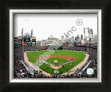 Comerica Park - 2009 Opening Day Framed Photographic Print