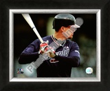 Chipper Jones 2008 Batting Action Framed Photographic Print