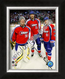 Tim Thomas, Zdeno Chara and Marc Savard 2008-09 NHL All-Star Game Framed Photographic Print