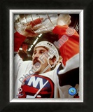Bryan Trottier - Holding Stanley Cup Framed Photographic Print