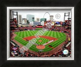 Busch Stadium - 2009 Opening Day Framed Photographic Print