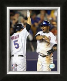 Jose Reyes and David Wright Framed Photographic Print