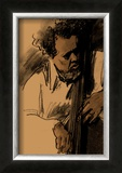 Charles Mingus Framed Giclee Print by Clifford Faust