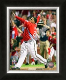 Prince Fielder 2009 Home Run Derby Framed Photographic Print
