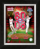 Tug McGraw &amp; Brad Lidge Framed Photographic Print