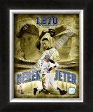 Derek Jeter 2008 Most Career Hits at Yankee Stadium Framed Photographic Print