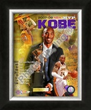 Kobe Bryant 2008 MVP Portrait Plus; LA Lakers Framed Photographic Print