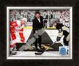 Mario Lemieux Ceremonial Puck Drop Game Three of the 2009 NHL Stanley Cup Finals Framed Photographic Print
