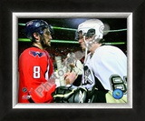 Alex Ovechkin & Sidney Crosby 2008-09 Playoffs Framed Photographic Print