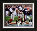 Justin Tuck - Super Bowl XLII Framed Photographic Print